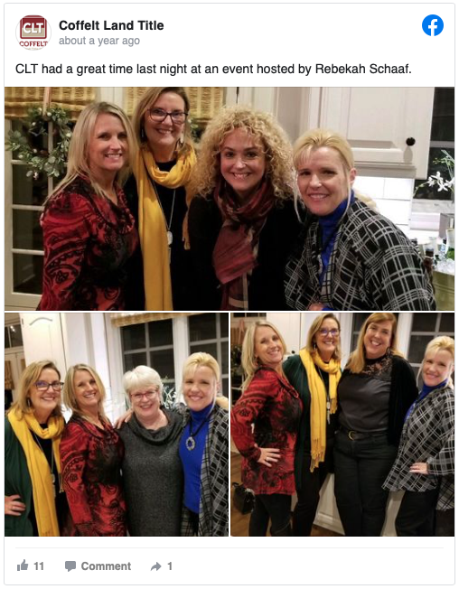Event hosted by Rebekah Schaaf.